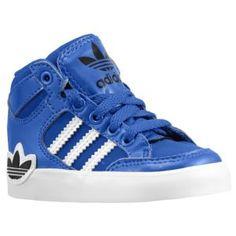 adidas Originals Hard Court Hi - Boys' Toddler - Basketball - Shoes - Black/Running White/Running White