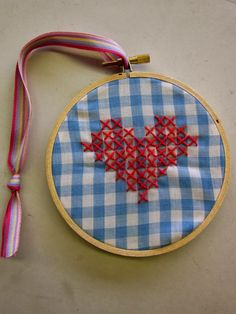 Sewing School: Cross Stiched Hearts for Kids