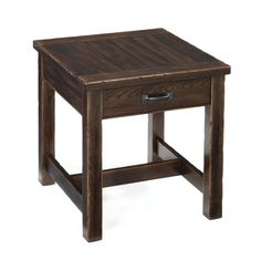 Magnussen Kinderton Wood Rectangular End Table | from hayneedle.com