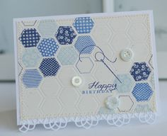Blue-Birthday Hexagons