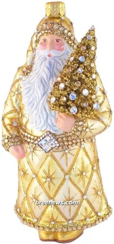 Faubourg Santa (Gold) Patricia Breen Designs (Gold, Bejeweled, Stars, Tree)
