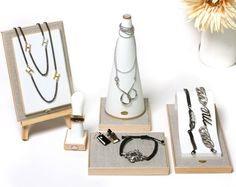 Jewelry Organizer for Earrings Rings Necklaces and by Schpunkintl, $53.50