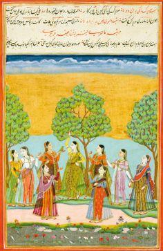 A leaf with two Ragamala illustrations: Malasri Ragini and Maru Ragini, India, Deccan, Hyderabad, circa 1760 | Lot | Sotheby's