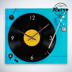 Reloj de Pared Retro Tocadiscos - 432