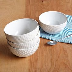 Textured Bowls #westelm