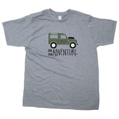 * Mens Land Rover T-Shirt *  A fun Land Rover design available in charcoal, natural, indigo or sports grey . Great for any Landy owners who are
