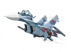 Buy Cartoon Military Airplane by Mechanik on GraphicRiver. Sukhoi Su 30, Fighter Aircraft, Fighter Jets, Cartoon Plane, Train Illustration, Truck Detailing, Airplane Drawing, Prop Design, Aviation Art
