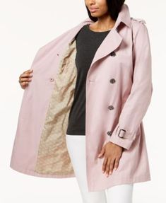MICHAEL Michael Kors Double-Breasted Trench Coat $200.00 Lightweight and versatile in its style, this trench coat from MICHAEL Michael Kors encapsulates classic design with a belted double-breasted silhouette.