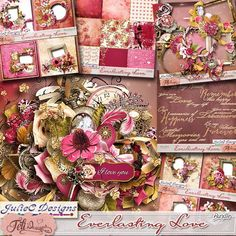Everlasting Love - Bundle by Feli Designs. A gorgeous collection that includes the beautiful Kit, Clusters, Quickpages, Wordarts and Alpha. Now on sale at Digital Scrapbooking Studio. Also available in separate packs.