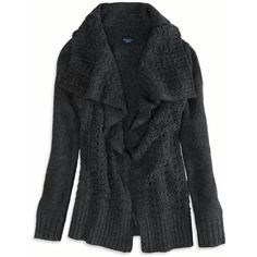AE Shine Knit Open Cardigan - American Eagle Outfitters - Polyvore