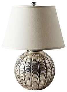 Hammered Metal Lamp, Scallop - eclectic - table lamps -  - by Serena & Lily