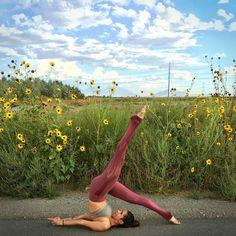 @AlissaYoga featured in the Sunny Strappy Bra & Vitality Legging. #aloyoga #beagoddess