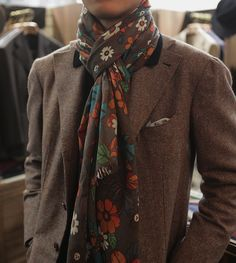 """A """"scarf"""" is where a guy can have fun with his guyliness!"""