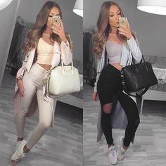 1️⃣ or 2️⃣?   outfit 1️⃣: coat @myy_stylee_15 | top @fashionnova | jeans @ginatricot | bag @fashiondrug | shoes @officeshoes  outfit 2️⃣: coat @myy_stylee_15 | top @shopflynation | jeans @fashionnova | bag @6rand_6ags1 | shoes @animaltracks_de