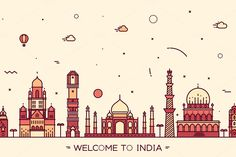 Skyline of India by grop on @creativemarket