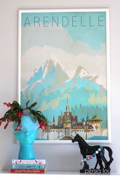 Get this gorgeous Frozen Arendelle poster download for free! Plus lots of sources for Vintage-Style Disney Travel Posters www.persialou.com