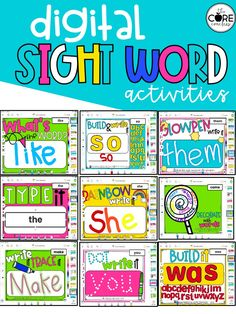 This resource provides 20 easy-to-implement sight word activities for ANY LIST. Each activity is compatible with Seesaw and Google Slides.