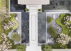 Landscape Plaza, Landscape Stairs, Landscape And Urbanism, Landscape Elements, Modern Landscape Design, Landscape Concept, Landscape Architecture Design, Green Architecture, Modern Landscaping