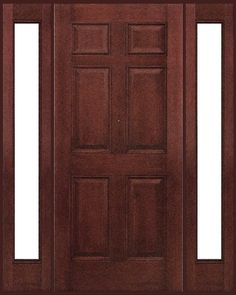 Wood entry doors with sidelights exterior doors with for Mahogany door skin