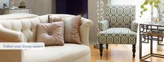 Love the sofa at the end of the bed! Room Gallery: Design Ideas from our Interior Designers | Pier 1 Imports