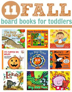 Fall board books for babies and toddlers.