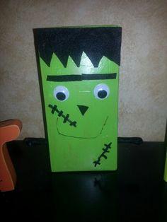 Kleenex box Frankenstein Halloween craft :)