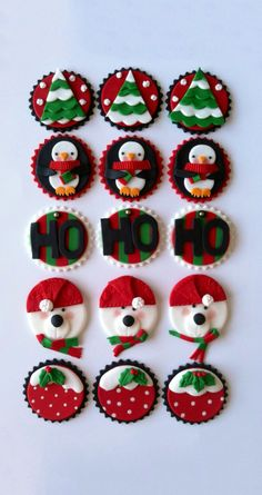 59 trendy ideas for cupcakes fondant navidad Christmas Cupcake Toppers, Christmas Topper, Holiday Cupcakes, Christmas Sweets, Fun Cupcakes, Christmas Goodies, Christmas Baking, Winter Christmas, Penguin Cupcakes