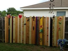 Update a plan privacy fence. This is my friends fence.