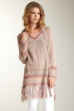 """Love Stitch - Knet Hooded Pullover  """"YUMM, COZY"""""""