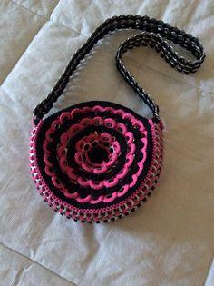 Pop tab flower purse