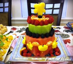 Real fruit cake, made out of fresh fruits.