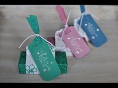 Box für 4 Merci Riegel mit dem Envelope Punch Board und Produkten von Stampin' Up! - YouTube