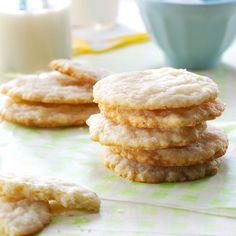 Lemon Oatmeal Sugar Cookies Recipe -This is an especially fun recipe to make… Lemon Cookies, Sugar Cookies Recipe, Cookie Recipes, Donut Recipes, Shortbread Cookies, Ranch Pasta, Köstliche Desserts, Dessert Recipes, Spring Desserts