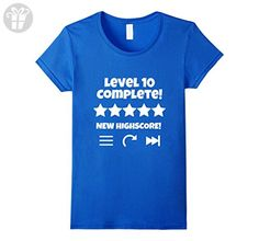Womens Level Complete - Level 10 Funny Video Game 10th Birthday T XL Royal Blue - Birthday shirts (*Amazon Partner-Link)