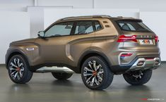 Lada keeps it rugged with Vision concept SUV Auto Camping, Crossover Suv, Automotive Design, Car Photos, Fast Cars, Cars And Motorcycles, Luxury Cars, Cool Cars, Dream Cars