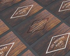 Rugged Business Card Design. Vintage Style Typography by RogueLogo