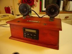 Steampunk Vintage Style AM/FM Radio and MP3 by DavesRadioShed