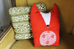 Fox pillows.  Inspiring me to make my plushy monsters in large pillow sizes.