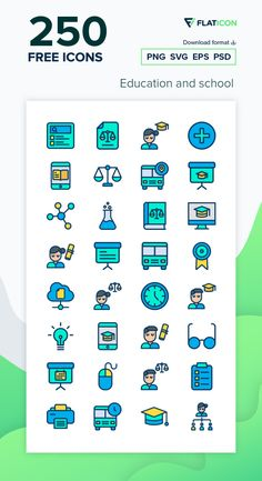 250 Education and school icons for personal and commercial use. Kiranshastry Lineal Color icons. Download now free icon pack from Flaticon, the largest database of free vector icons. #Flaticon #icons #teacher #education #school #college