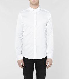 Mens Geno Shirt (White) | ALLSAINTS.com