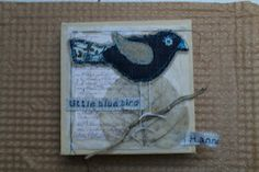'Little blue bird' collage