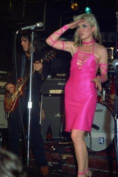 Debbie Harry in the Anya Phillips dress from Plastic Letters,1977