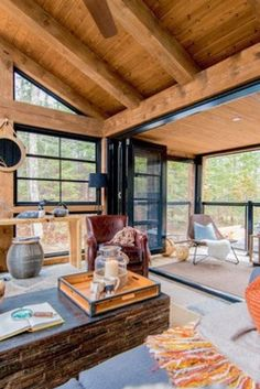 53 Comfortable sunroom playroom kidsroomThis is the Cottage Conservatory of your dreams - S D - This is the Cottage Conservatory O .This is the cottage winter Conservatory Playroom, Sunroom Playroom, Home Office, Cabin Office, Cabin Design, House Design, Small Sunroom, A Frame Cabin, Screened In Porch
