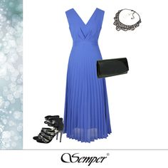 #eveninggown #semper #maxidress #bluedress #pleated #eveninglook #stylish #ladiesfashion