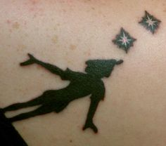 My Peter Pan tattoo on my right shoulder blade.Done by Andrew at Fathom Tattoos; Tampa, FL.