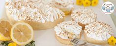 Dreamy Lemon Meringue: A shortbread cookie crust filled with tangy lemon curd and topped with a silky meringue toasted to perfection. Shortbread Cookie Crust, Gourmet Bakery, Gourmet Cupcakes, Seasonal Food, Lemon Curd, Tart, Sweet Treats, Cheesecake, Desserts