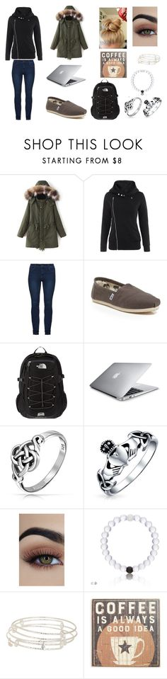 """""""Early morning work"""" by sarapotter98 on Polyvore featuring TOMS, The North Face, Bling Jewelry, Alex and Ani, Primitives By Kathy, Winter, outfit, ootd, polyvorefashion and styleinsider"""