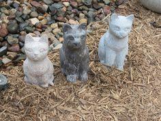 Cat garden art at the Minnesota State Fair.