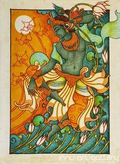 Buy Fine art painting Dancing Krishna by Artist Sreeraj