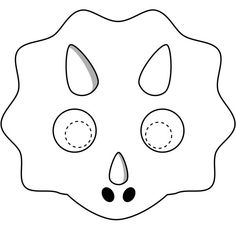 Dinosaurs Printable Coloring Masks, dinosaur masks